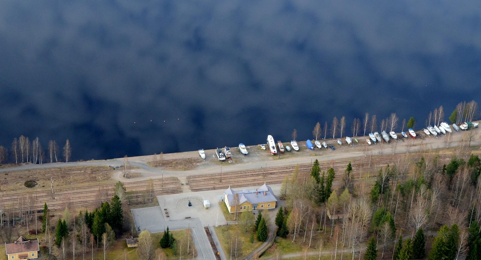 Suolahden sataman seutu johon suunnitellaan uutta rakennusta