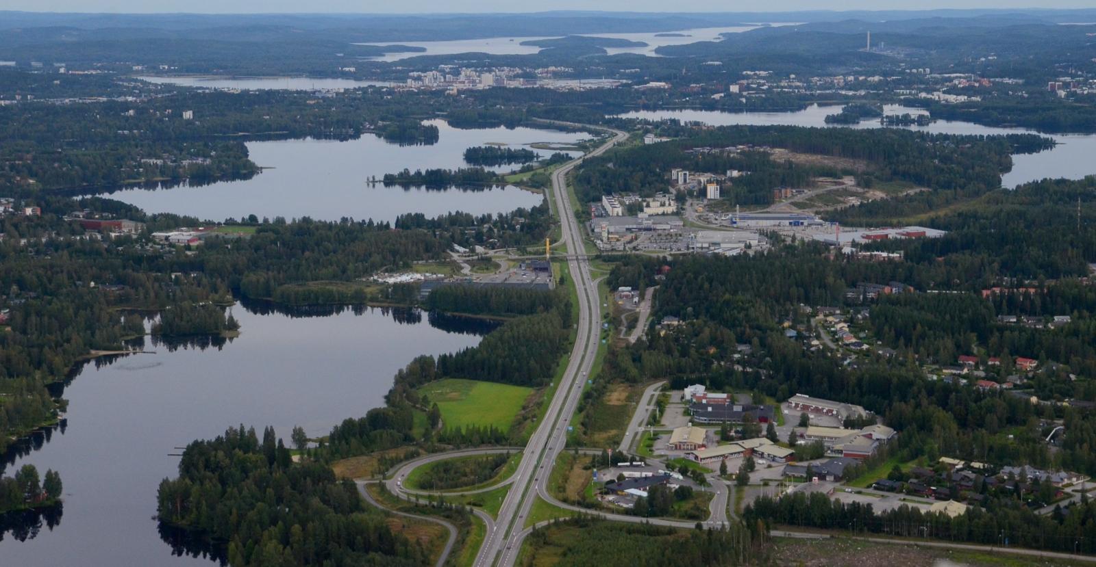 Kirri, Palokka, Jyväskylän keskusta.