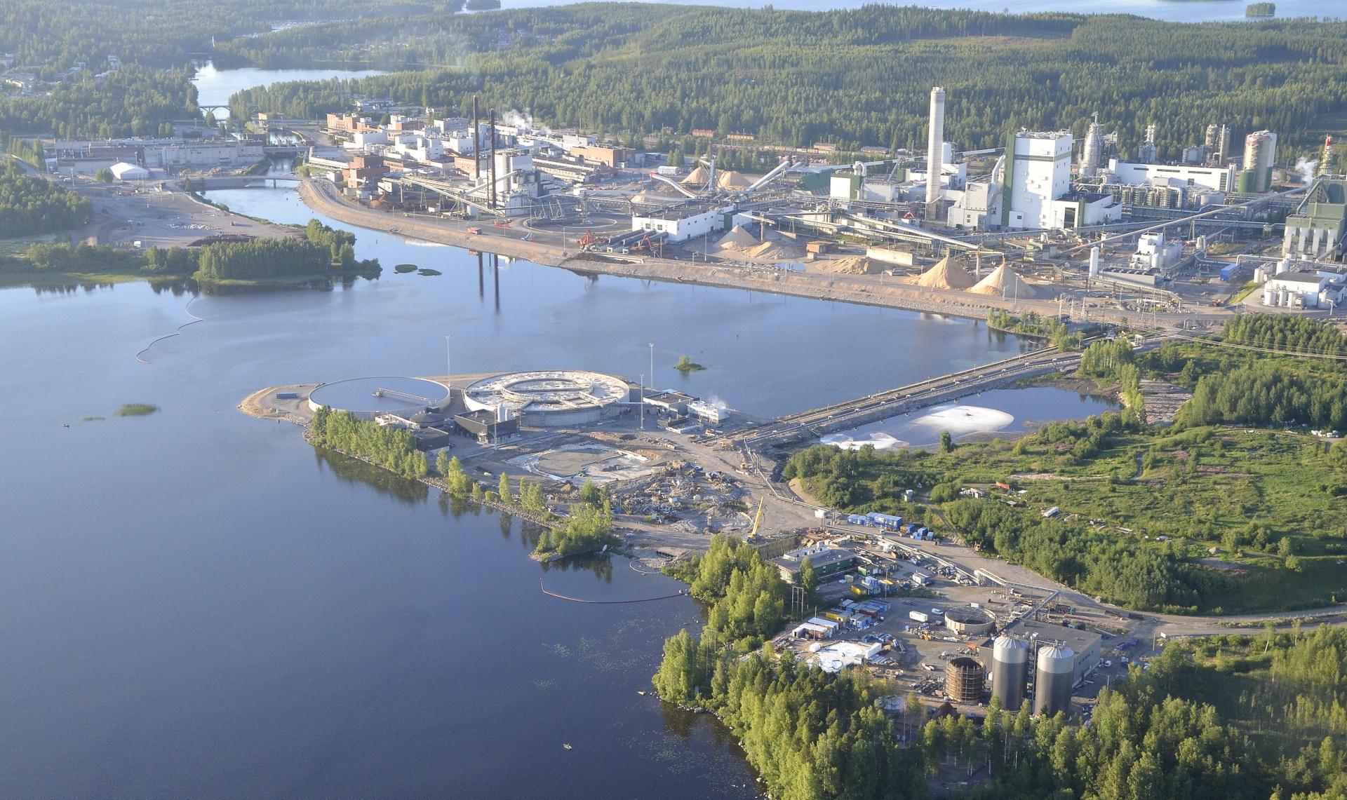 2017-07-26 Uusi jätevesipuhdistamo toiminnassa ja vanha purettu.