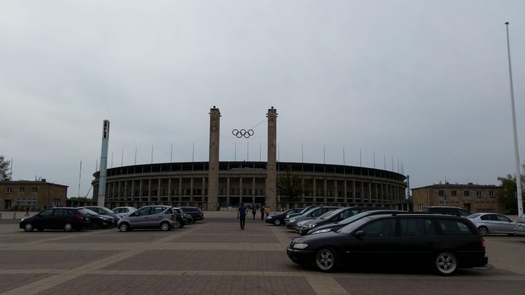 Berliinin Olympiastadionilla ja Hertha Berliinin fanikaupassa käymäsä