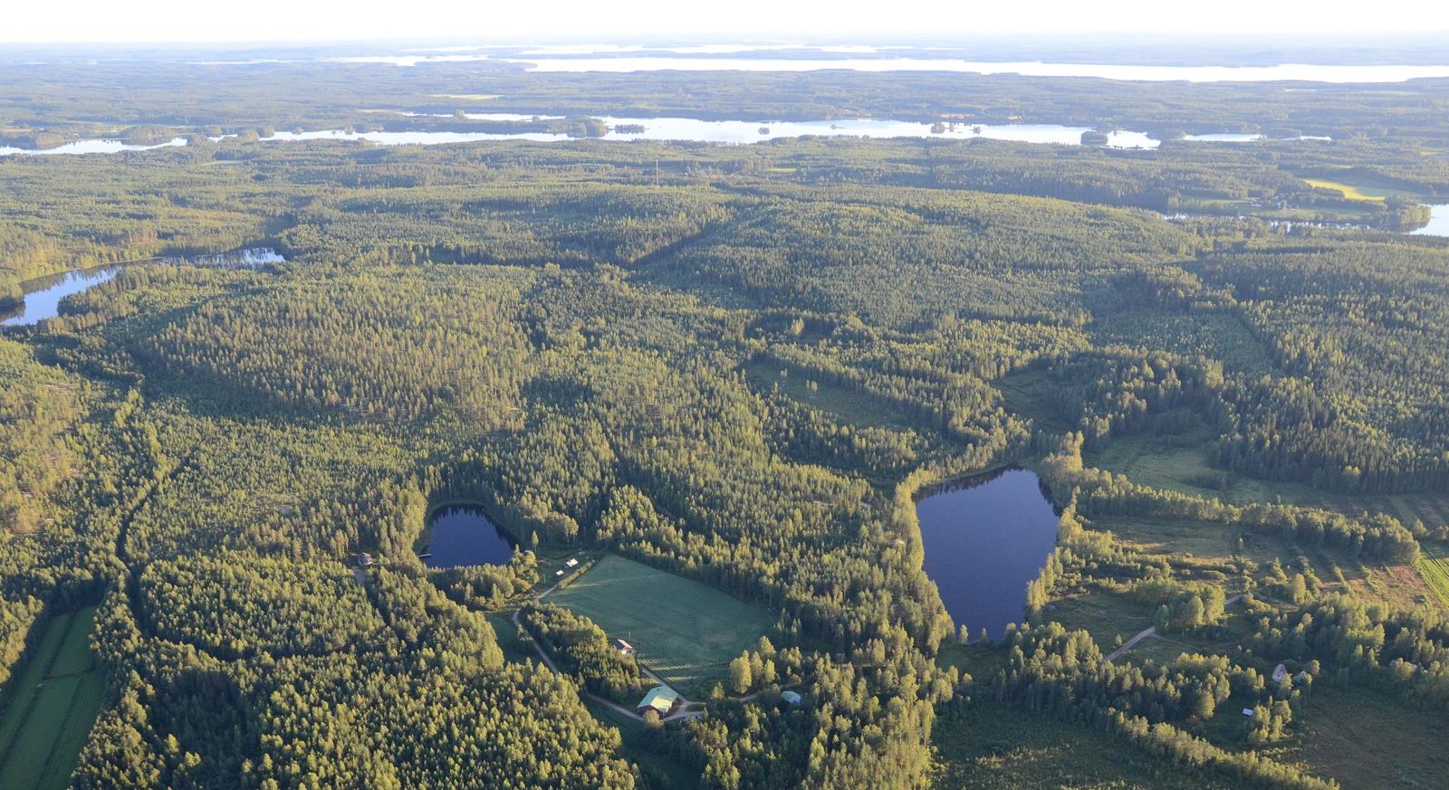 Lähimpänä Palolammet, sitten Suotajärvi ja Suovanselkää