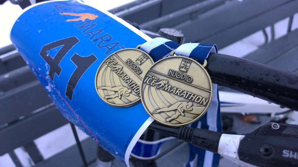 Finland Ice Marahton 2016: Mitallisadetta