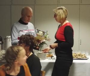 Viipyyn Vuoden pyöräilyteko palkinto 2016 ojennettiin Keijo Kuhalle (Kuva: Petri Kuntsi 2016)