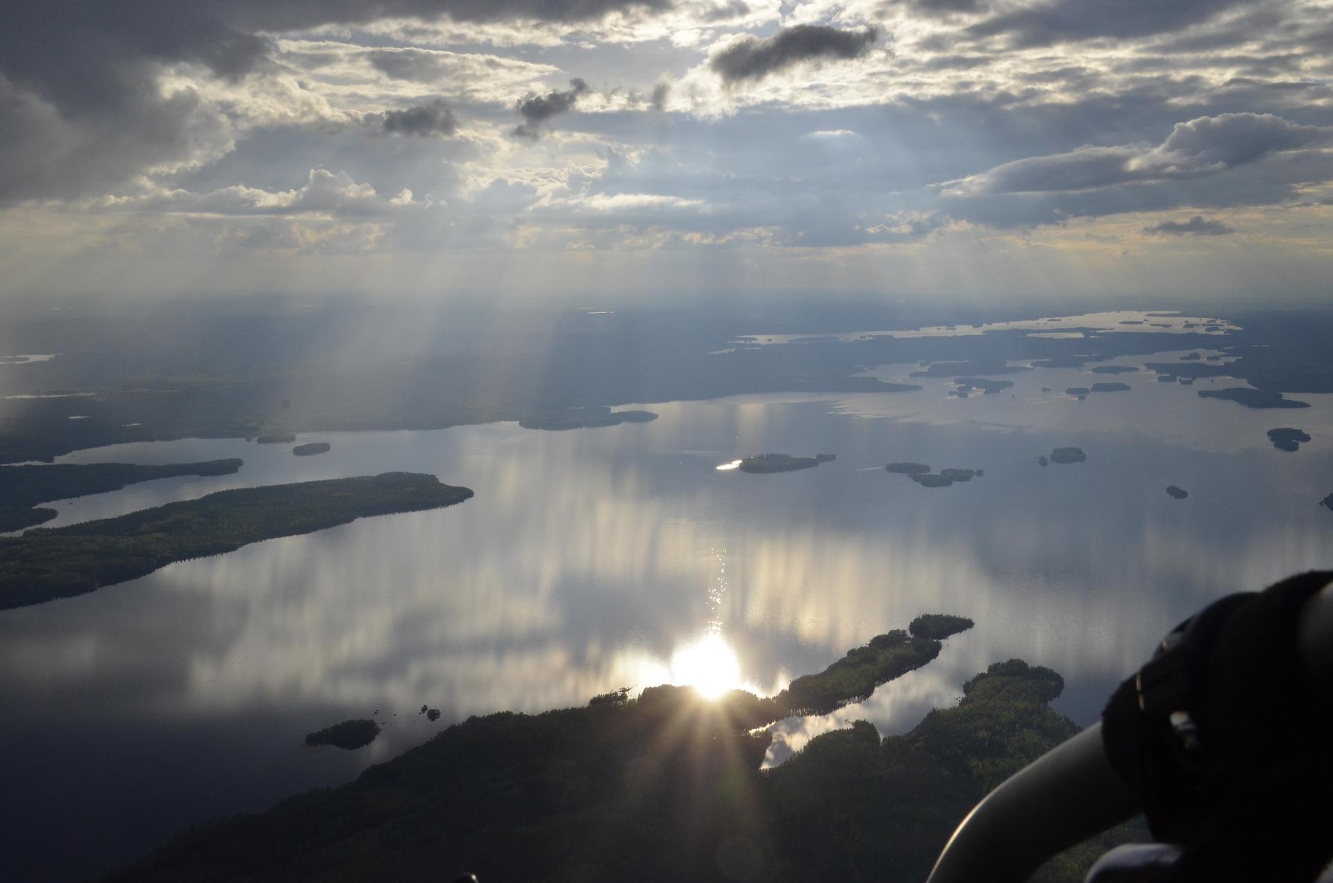10.6.2017 Hieman korkeammalla lennolla.