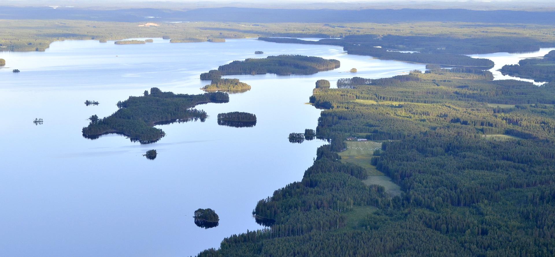 Matoselän saaria Järkiniemen kupeella.