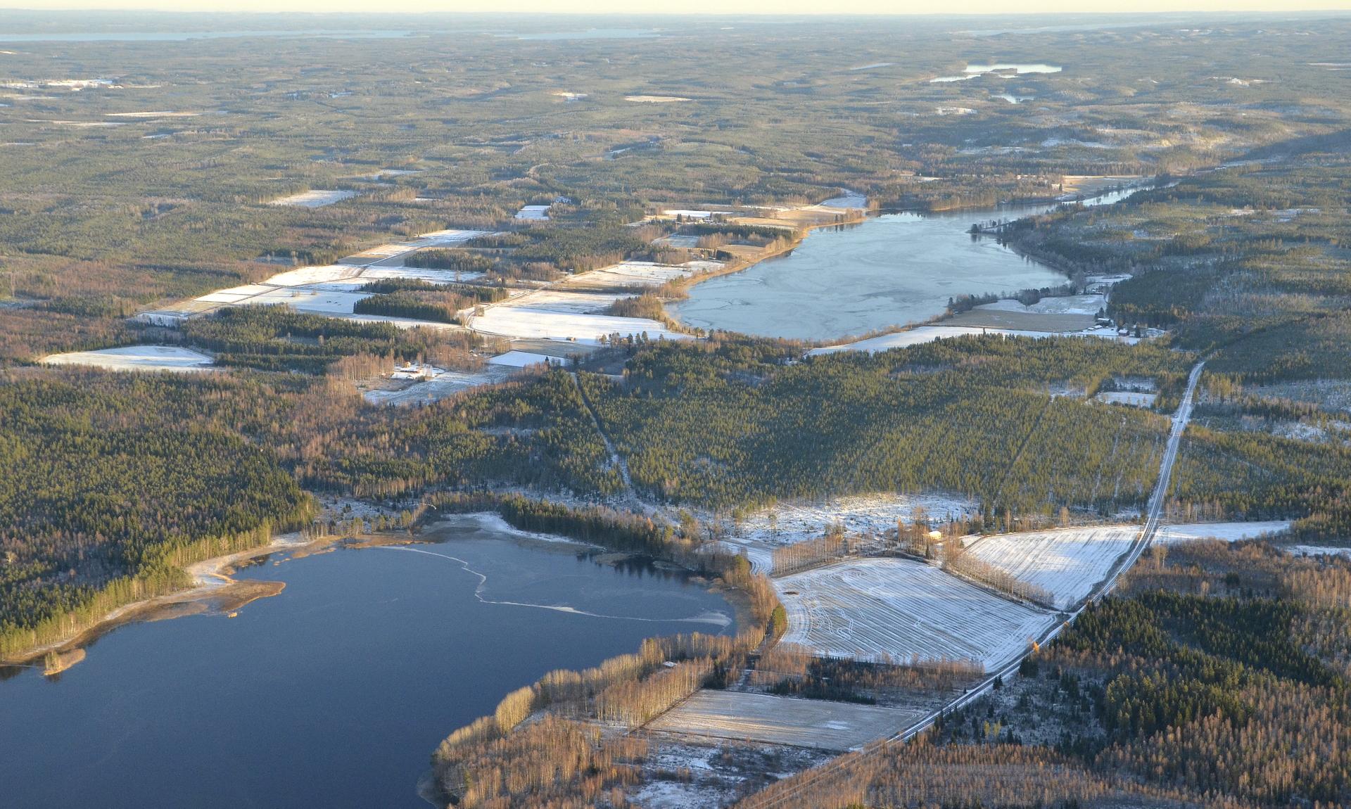 Pieni- ja Iso-Toulatjärvi. 2.11.2017