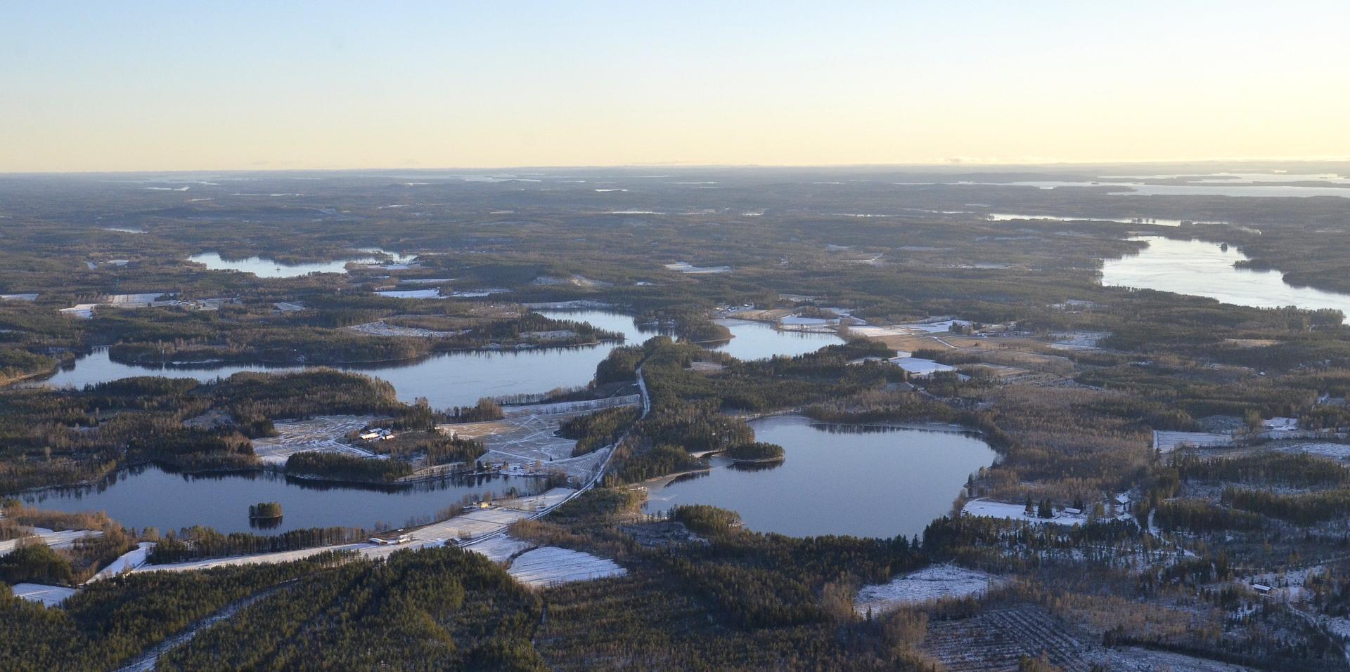 Mäntylänkylän järviä 1.11.2017.