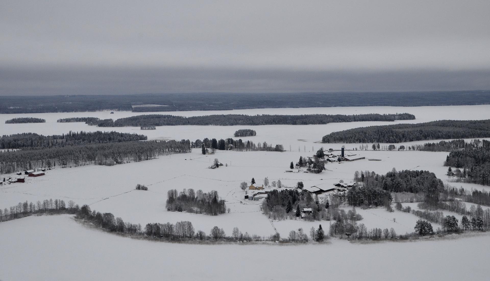 17.12.2017 Pasalan maisemat talvisessa asussa.
