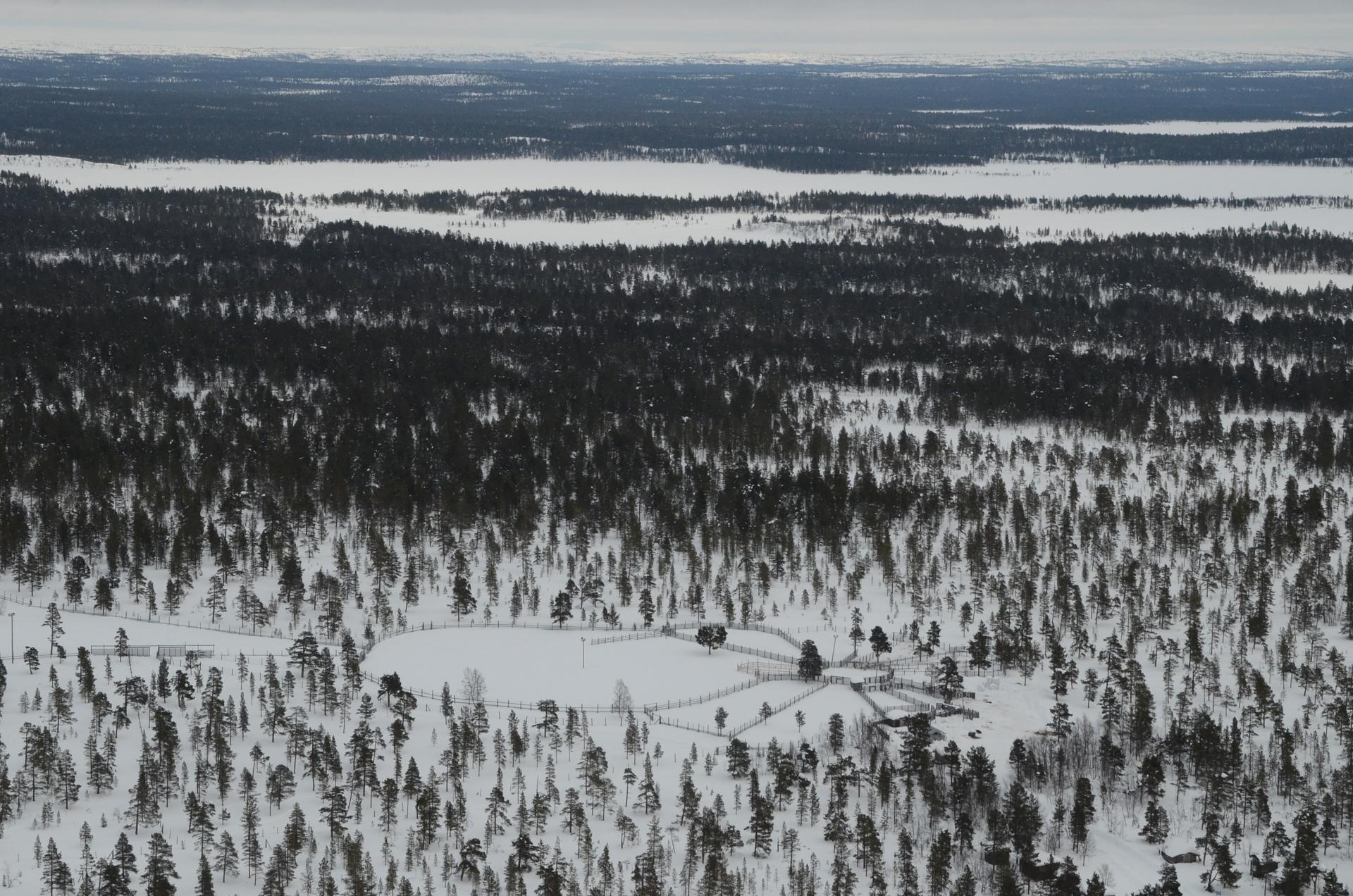 Erotusaitoja. Taustalla Suolisjärvi.