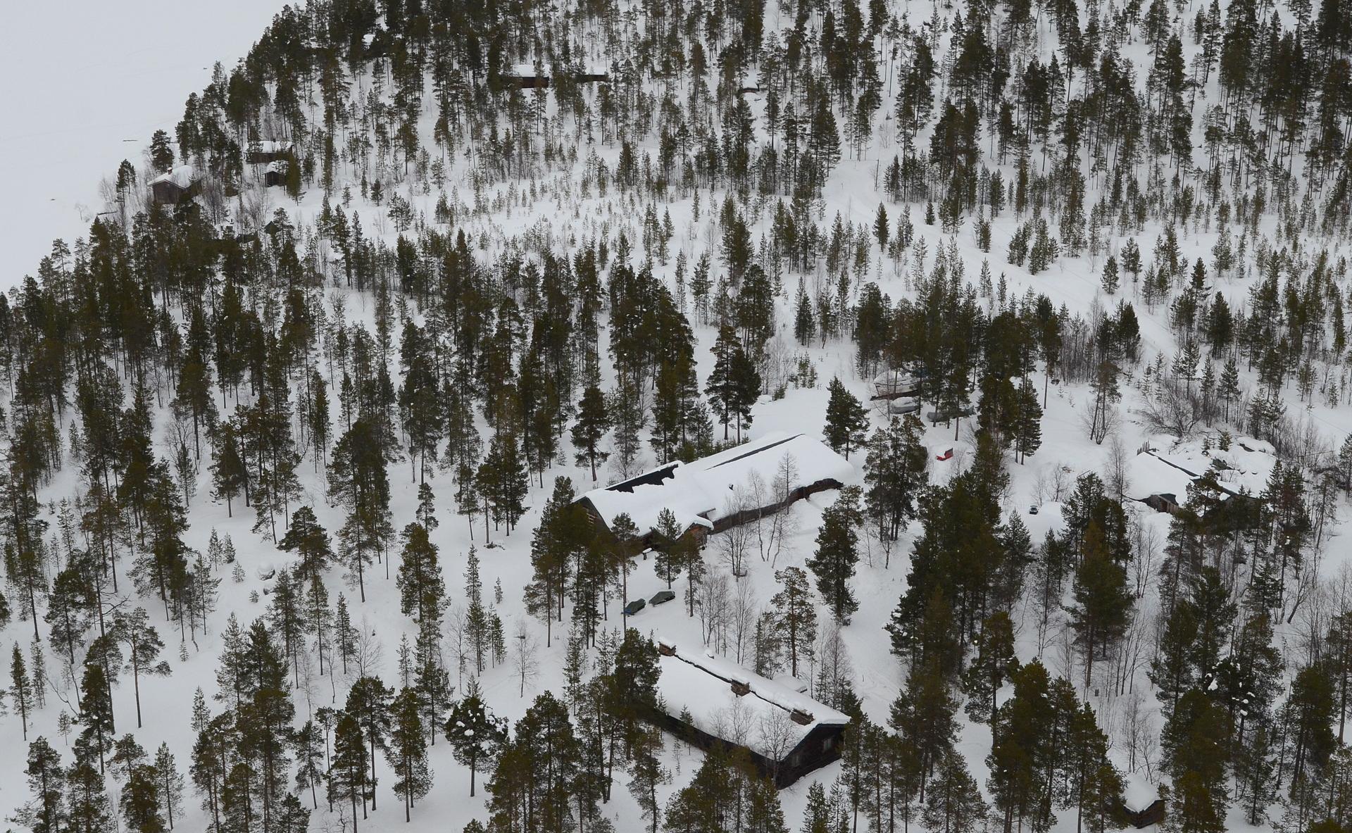 Veskoniemi saavutettu, kuvassa paikka jossa tehty Vesa-Matti Loirin ohjelma Loiri nuotiolla.