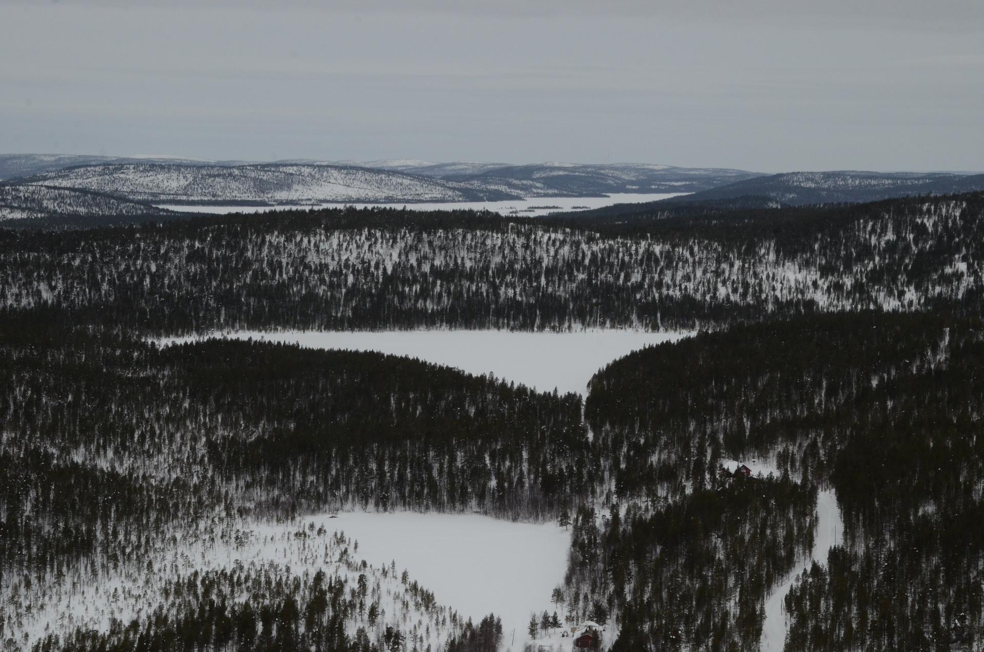 Näkymä Rahajärven suuntaan.