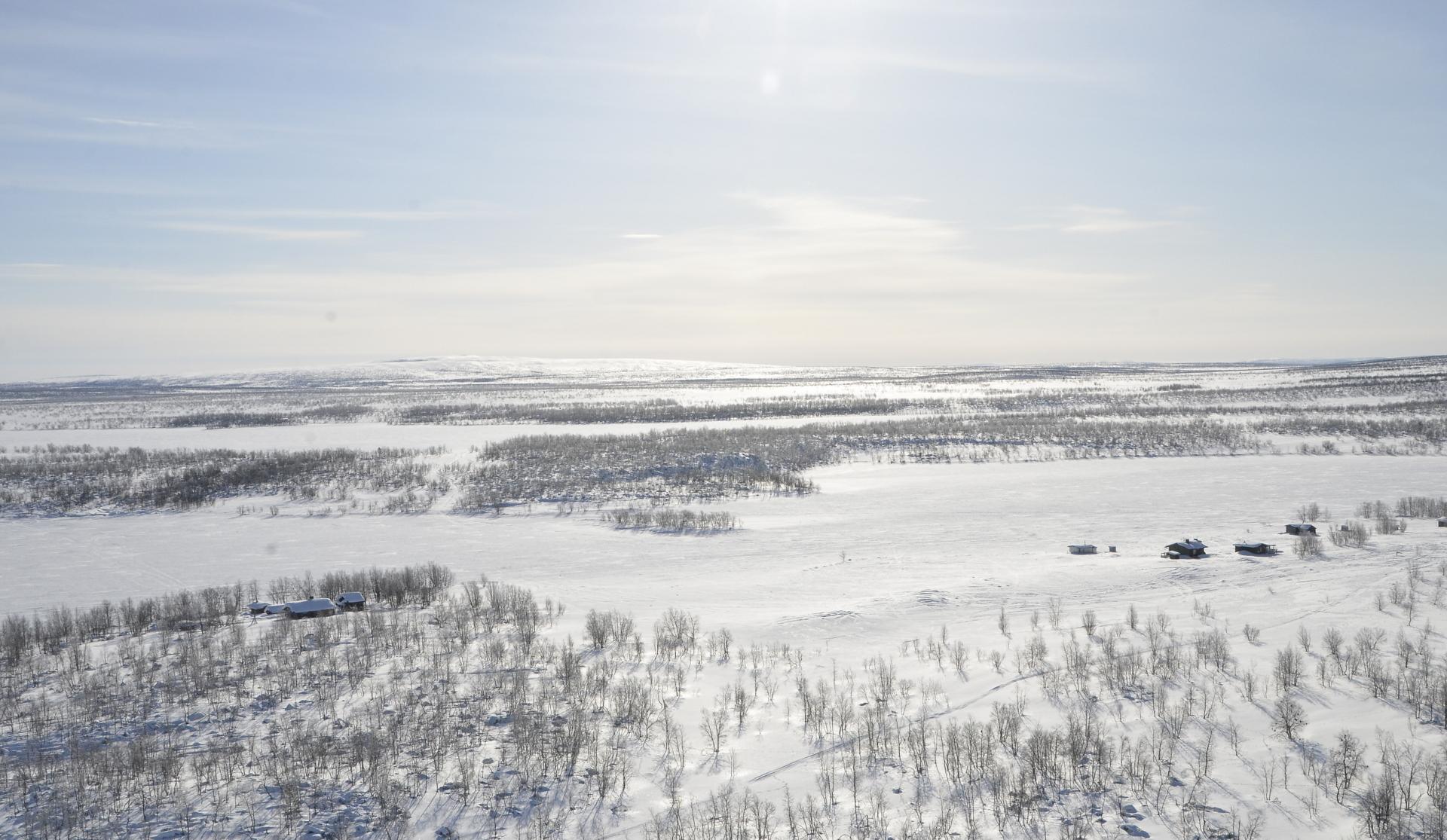 Syväjärven mökkejä.