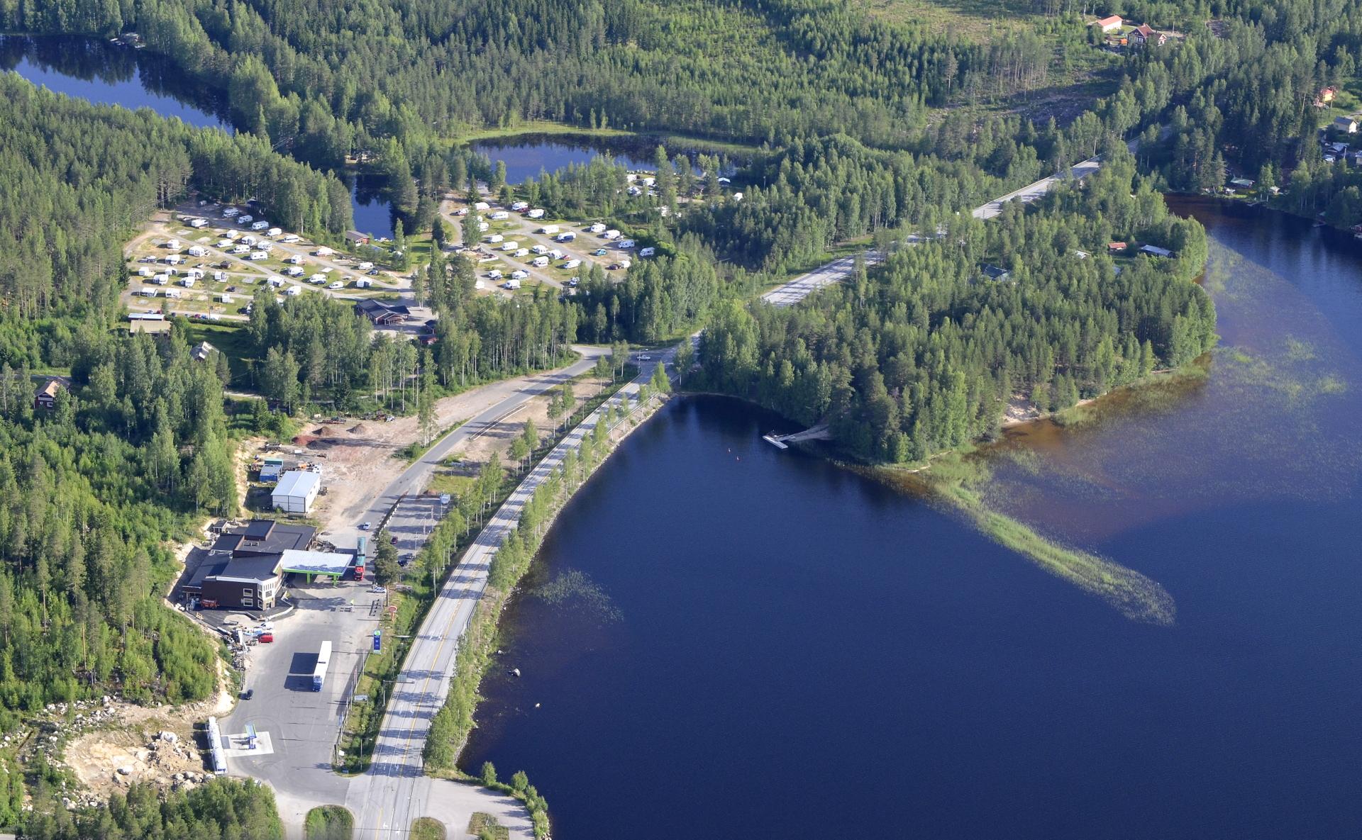 Lintulahden huoltoaseman laajennus lähes valmis.