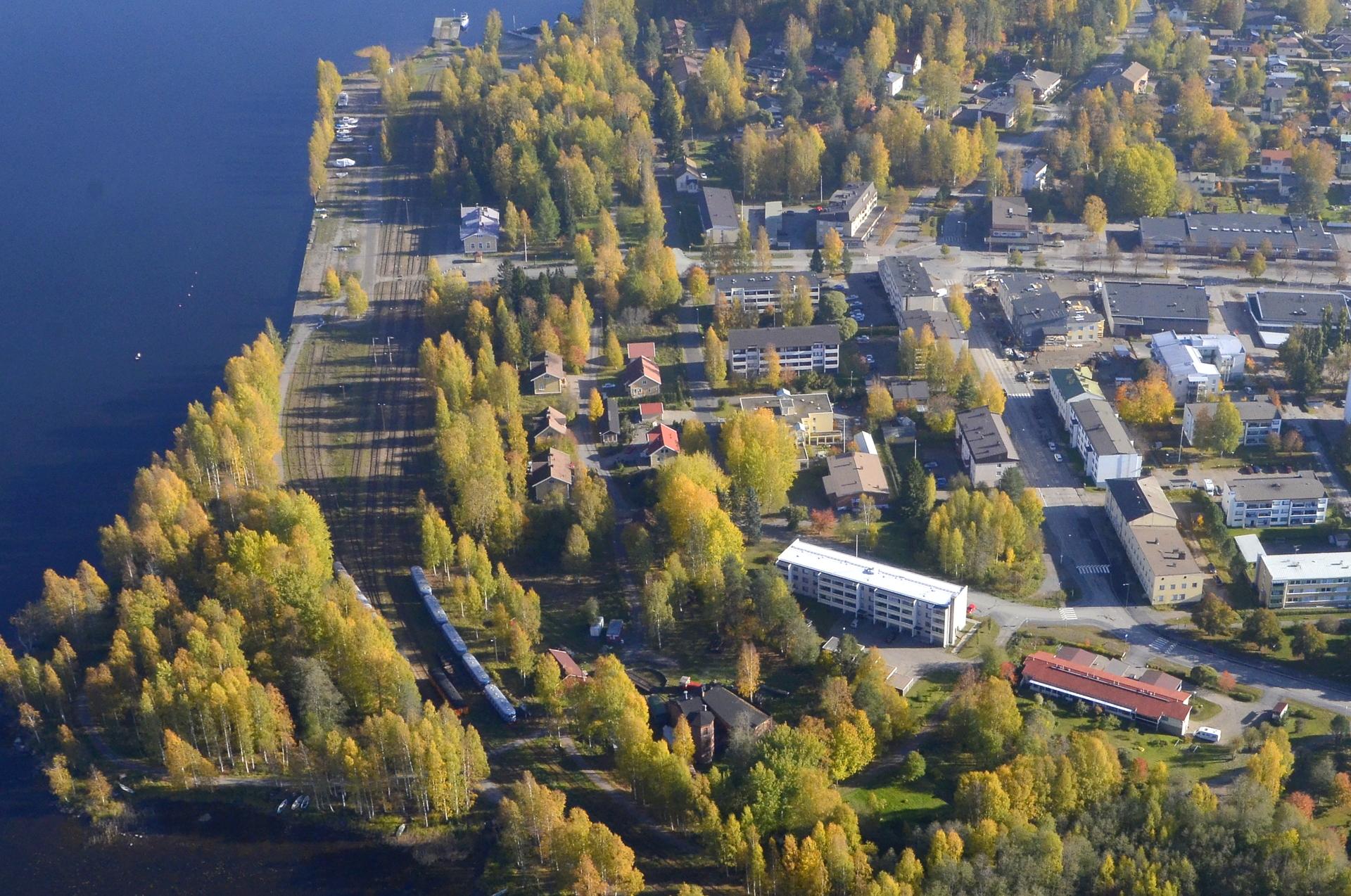 Suolahden rautatieasema.