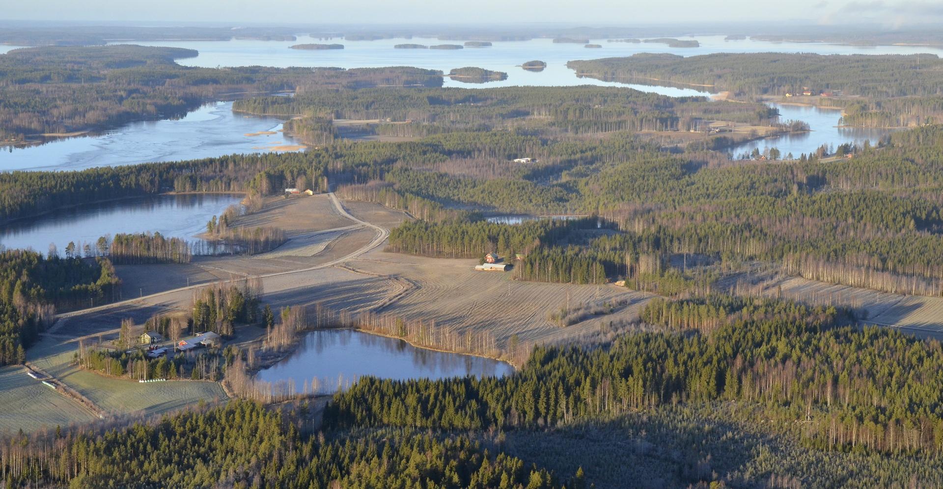 Pienet lammet jo jäässä ja riitettä järvien lahukoissa.