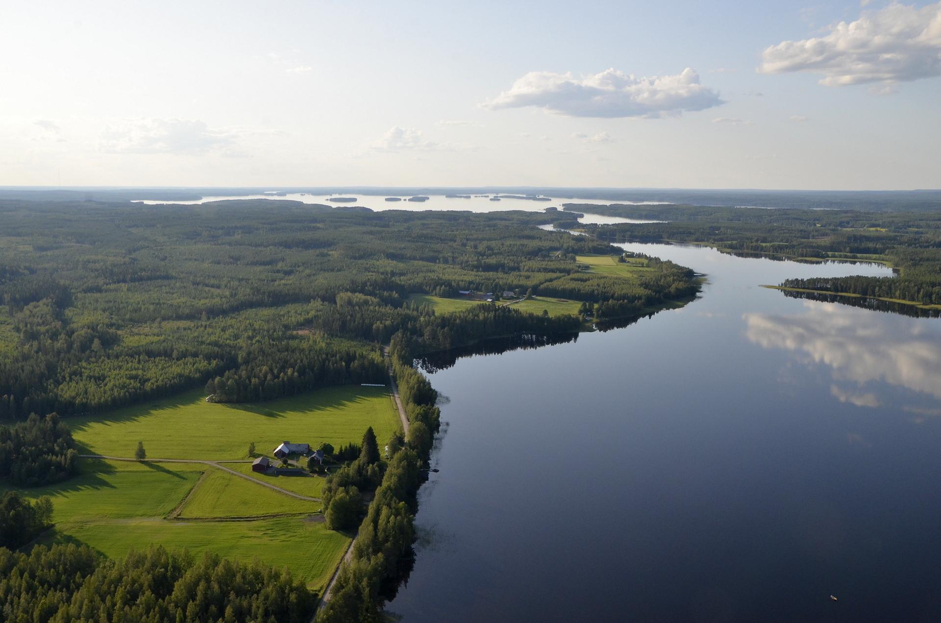 Lähimpänä Koliman Autionselkä ja vasemmalla Rantala.