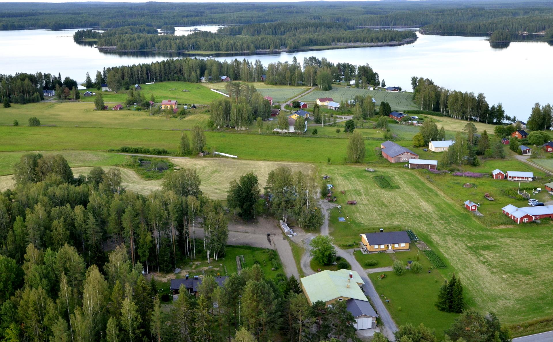 Saarenkylän taloja.