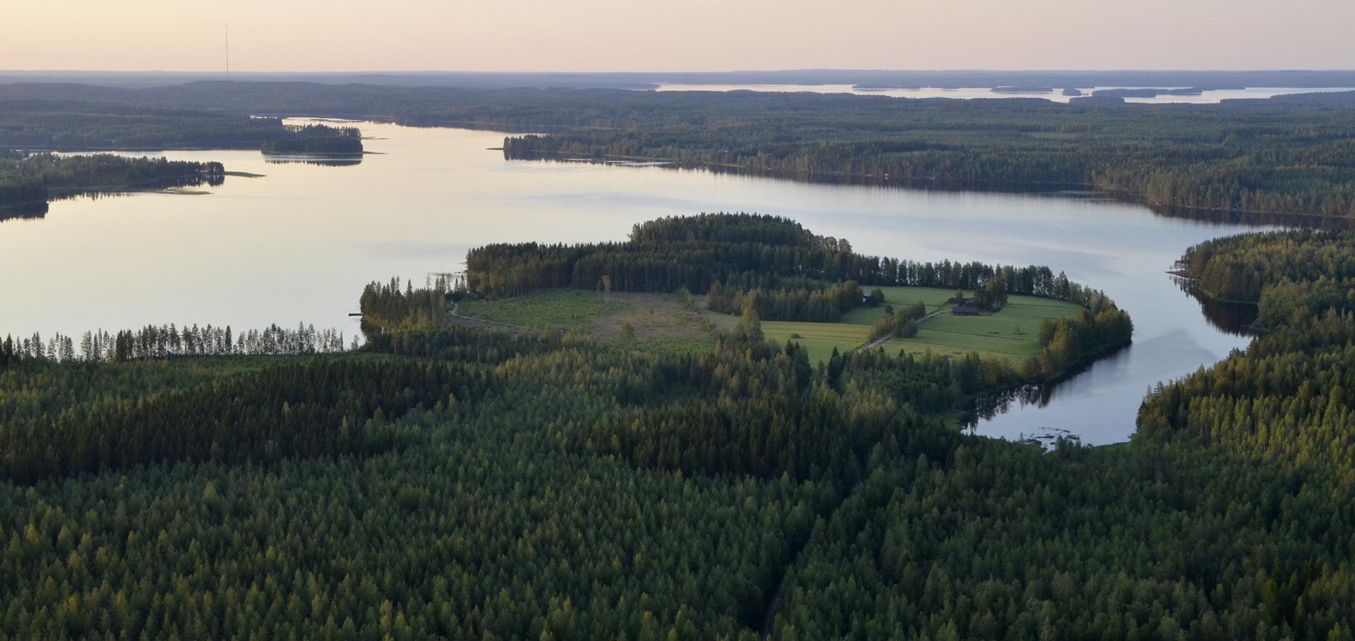 Löytänäjärvi, taustalla kolima.