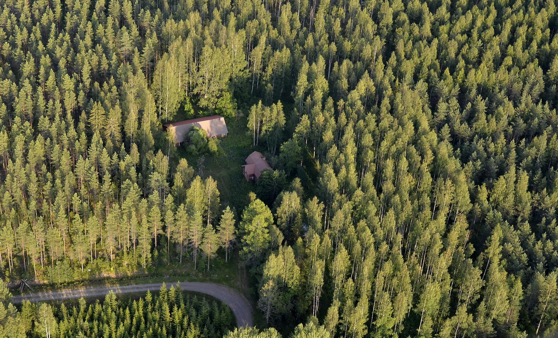 Tässä Takalan tilan kohdalla ylitän Kivijärvi-Kannonkoski rajan. Takala on Kannonkosken puolella.