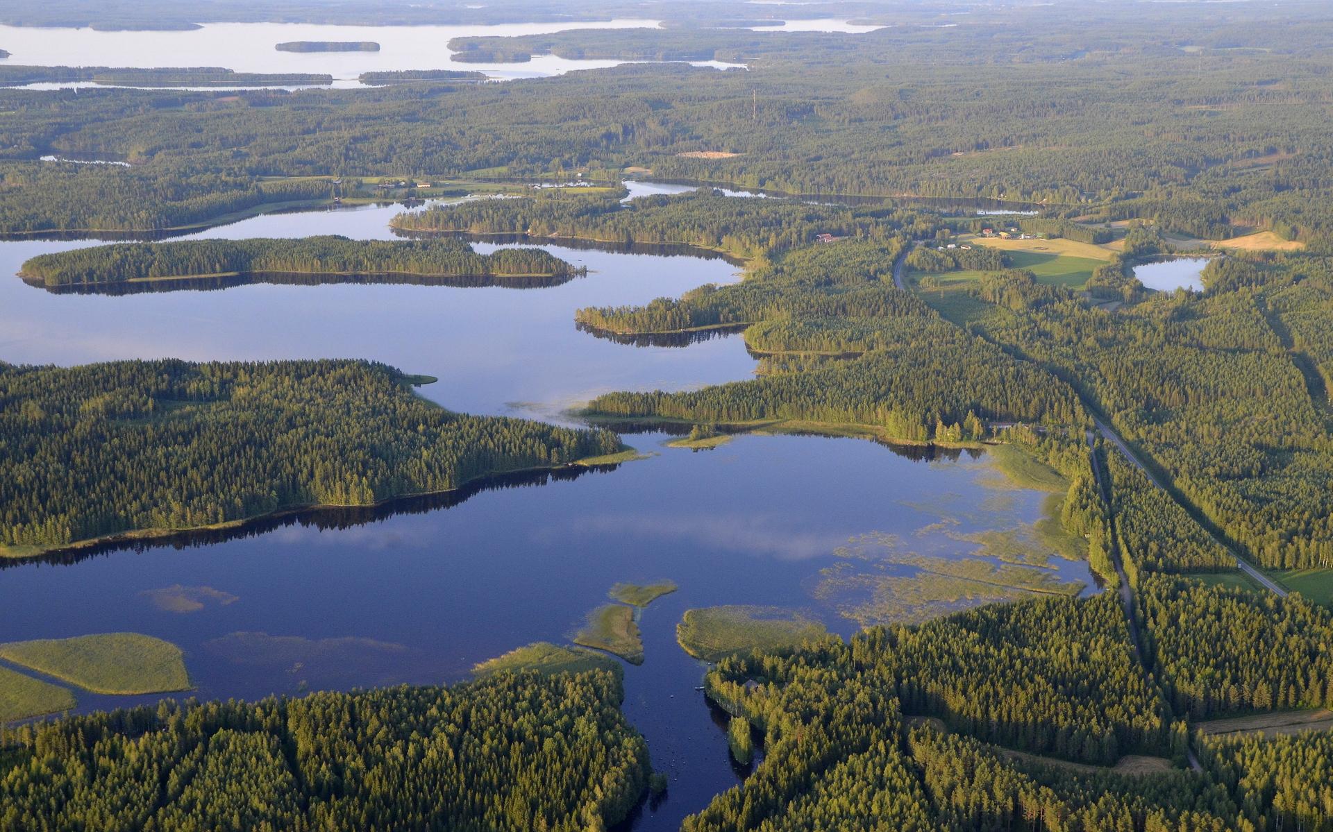 Muuruejärven Kylmälahti Huopanassa.