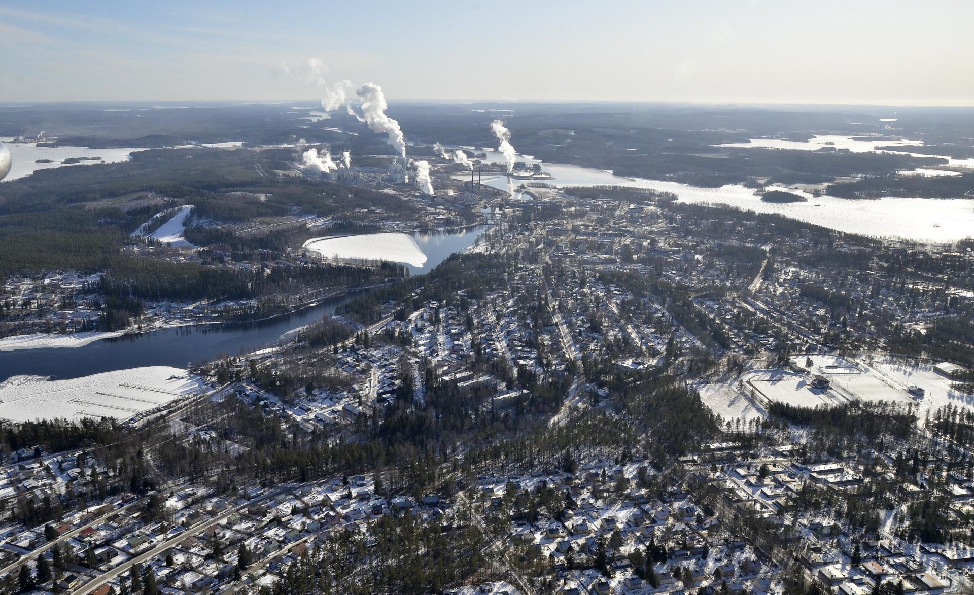 Kuva otettu Markkamäen päältä