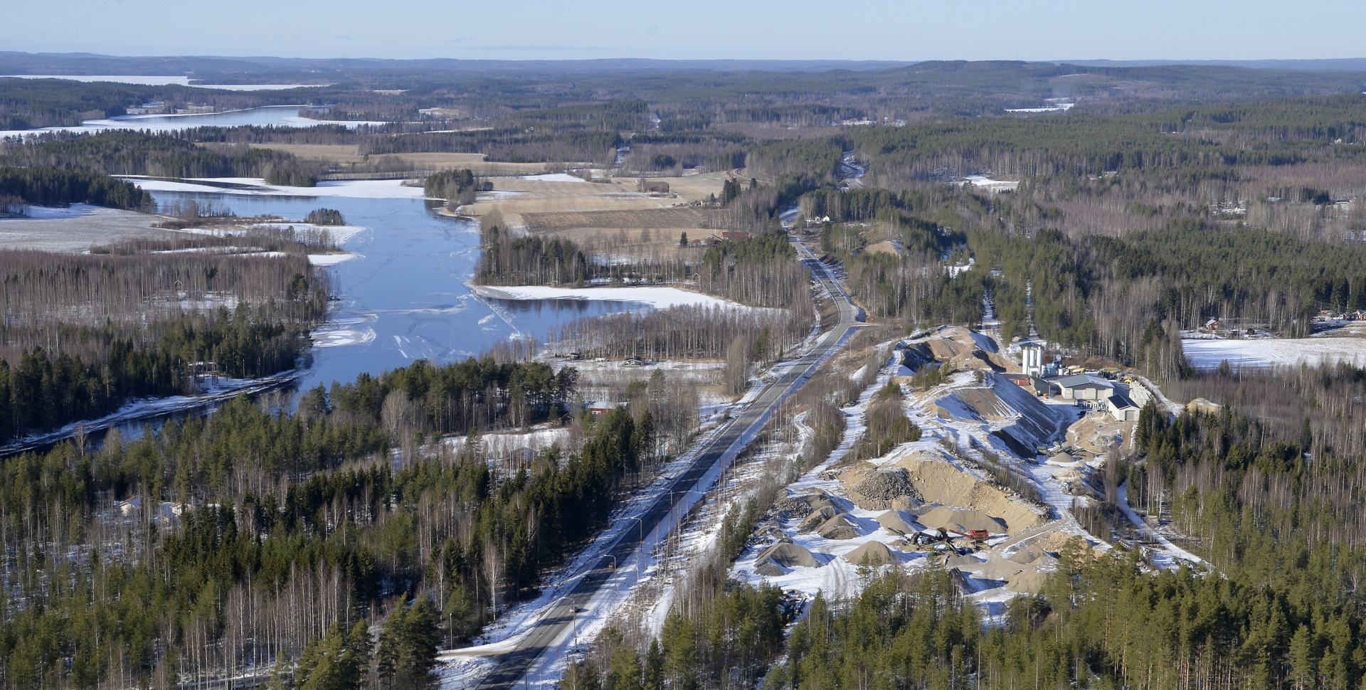 Syrjänharju, Syrjänbetoni ja Kiimasjärvi.