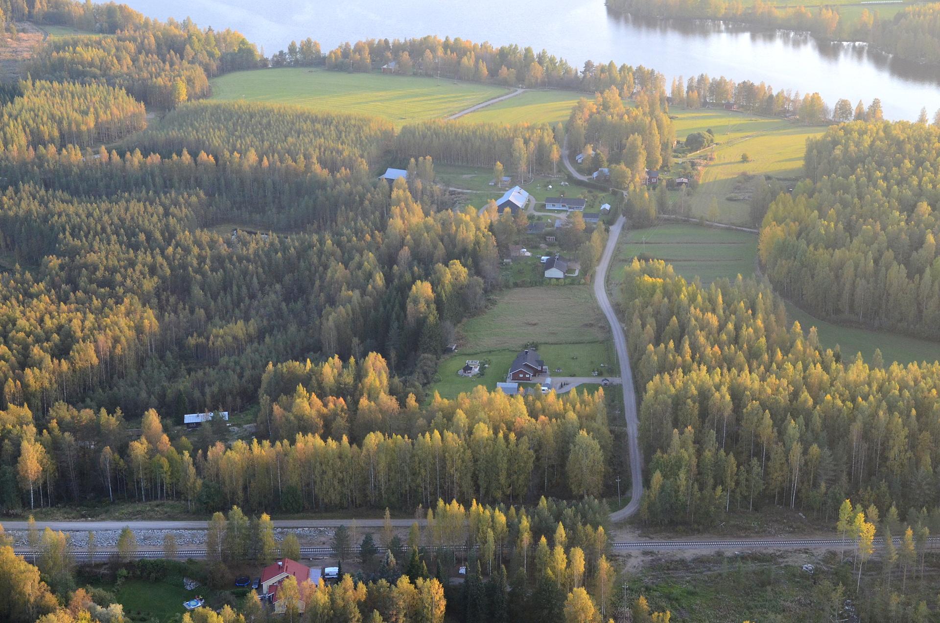 Parantalan taloja Kiimasjärven puolella.