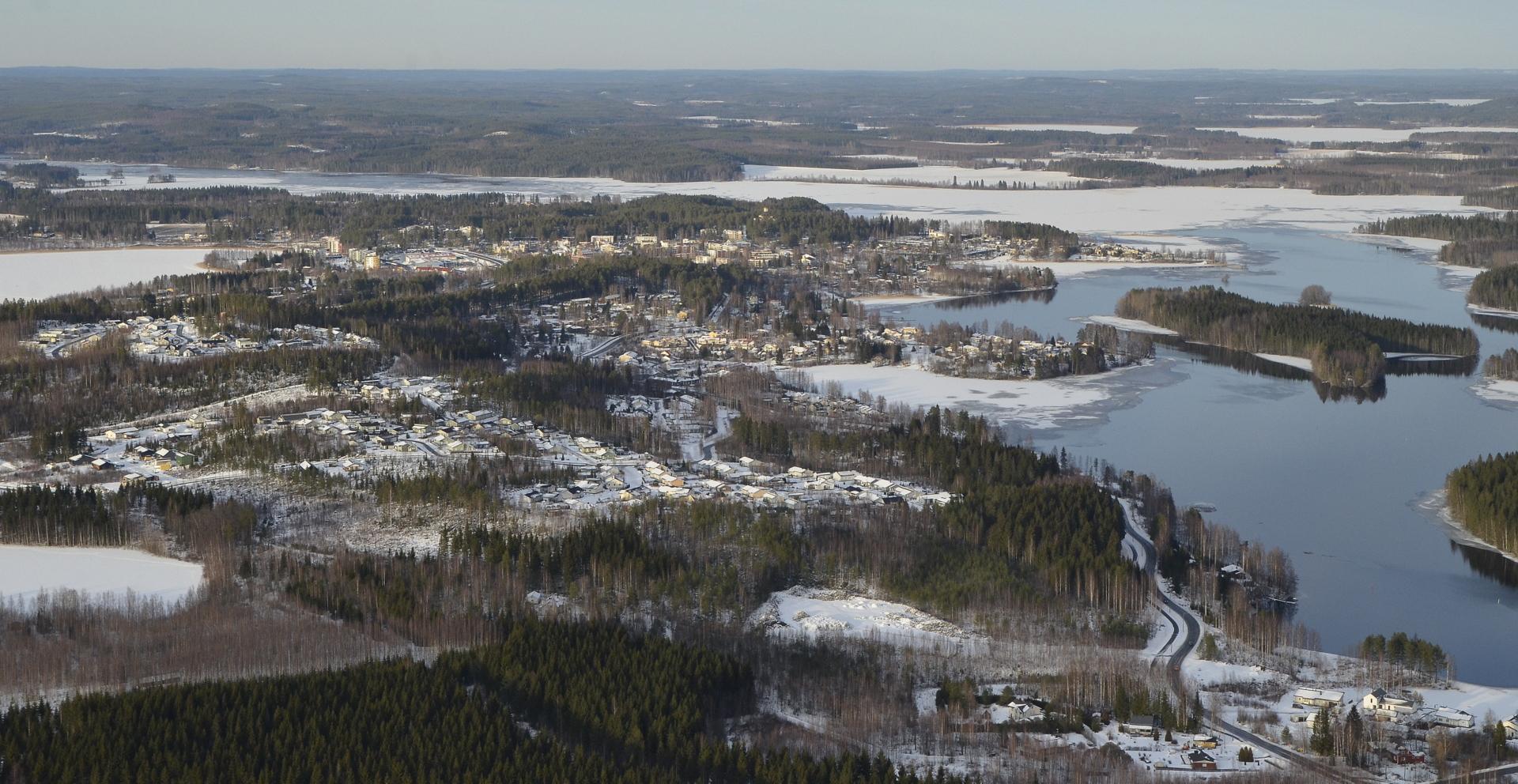 Laukaa Jyväskylän suunnasta tullessa.