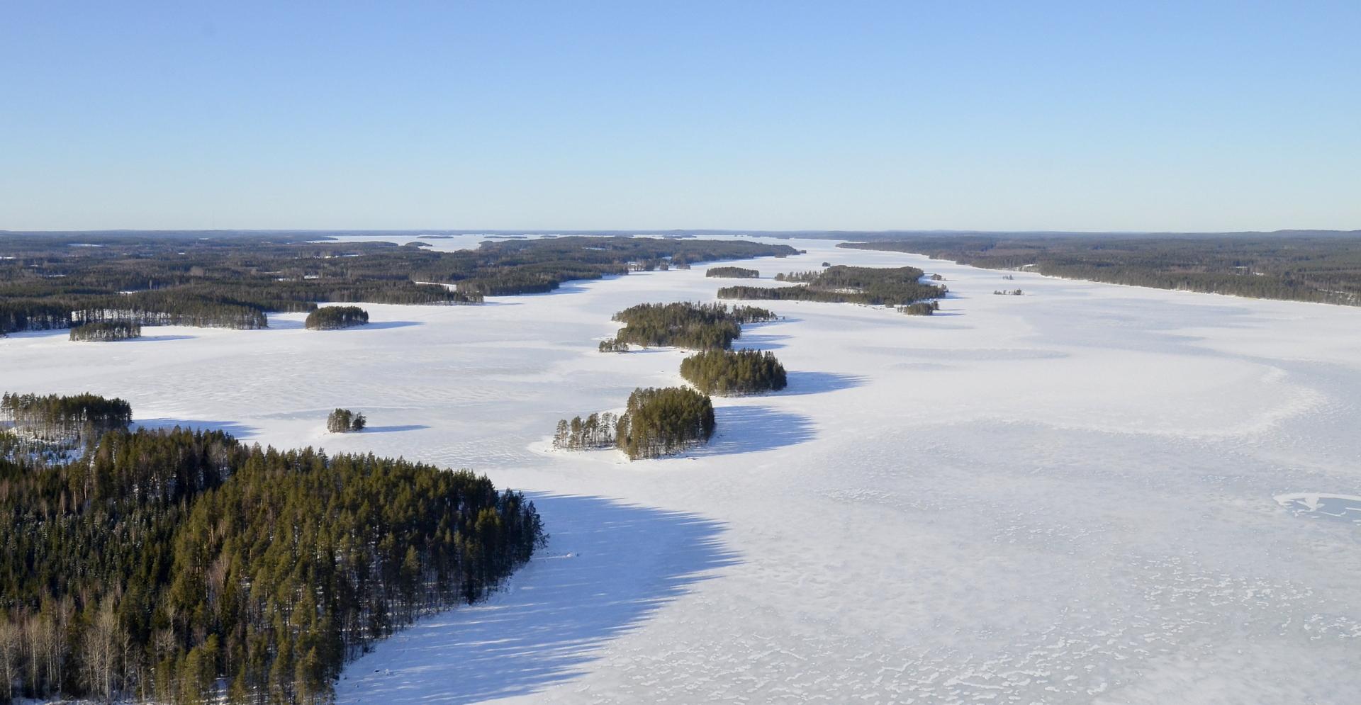 Matoselkä, vasemmalla Haapasaaren kuvetta. 21.2.2019