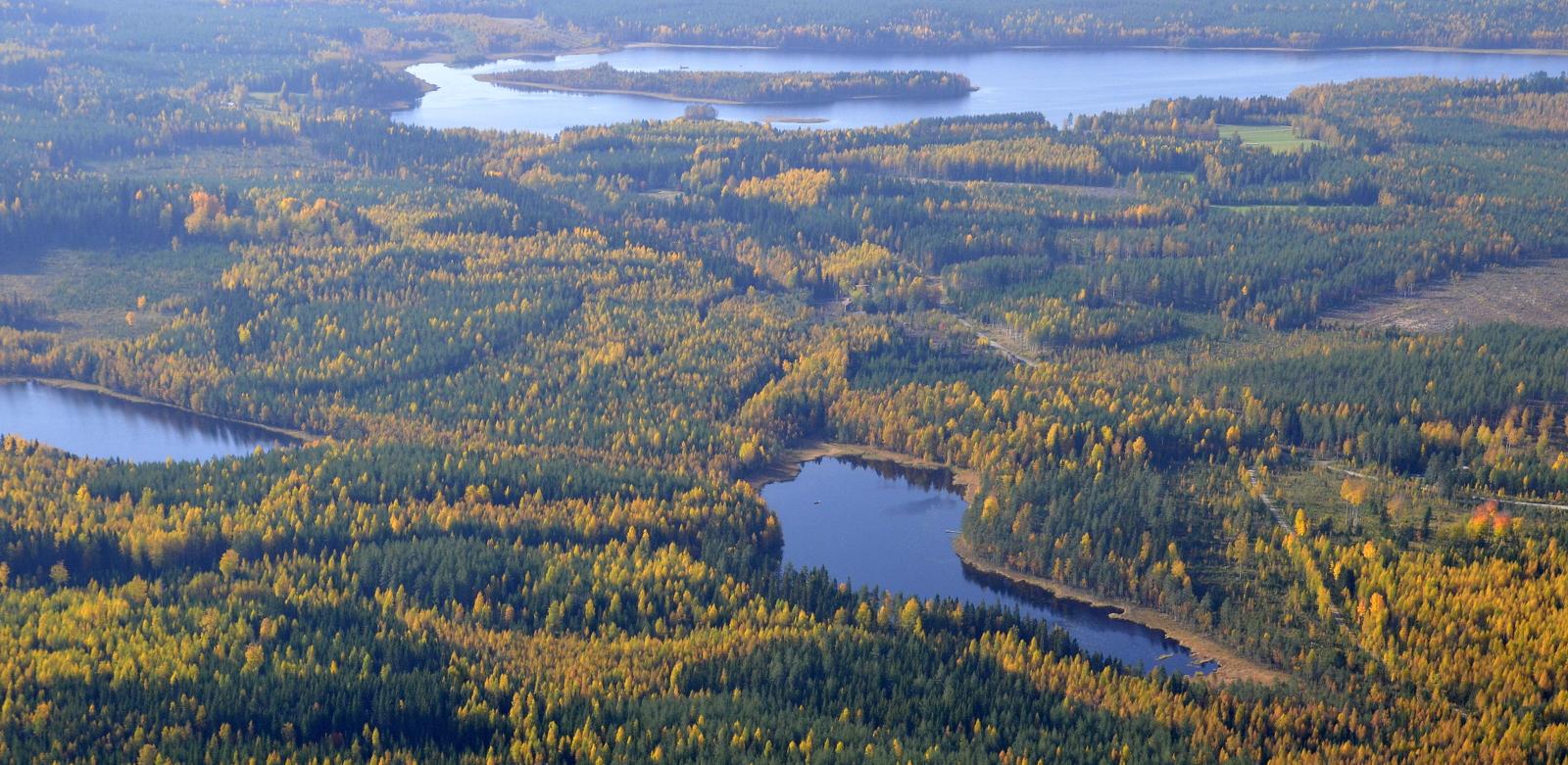 Heinäjärvi saarineen.
