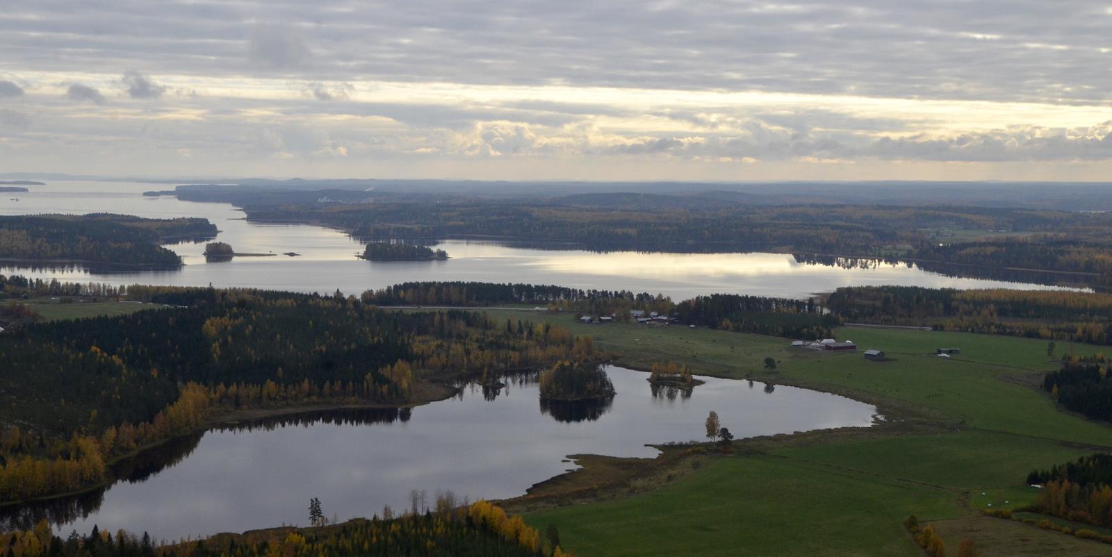 Viitakankaan Piolampi ja Keitelejärven Muikunlahti matkatessani Viitasaaren keskustaa kohti.