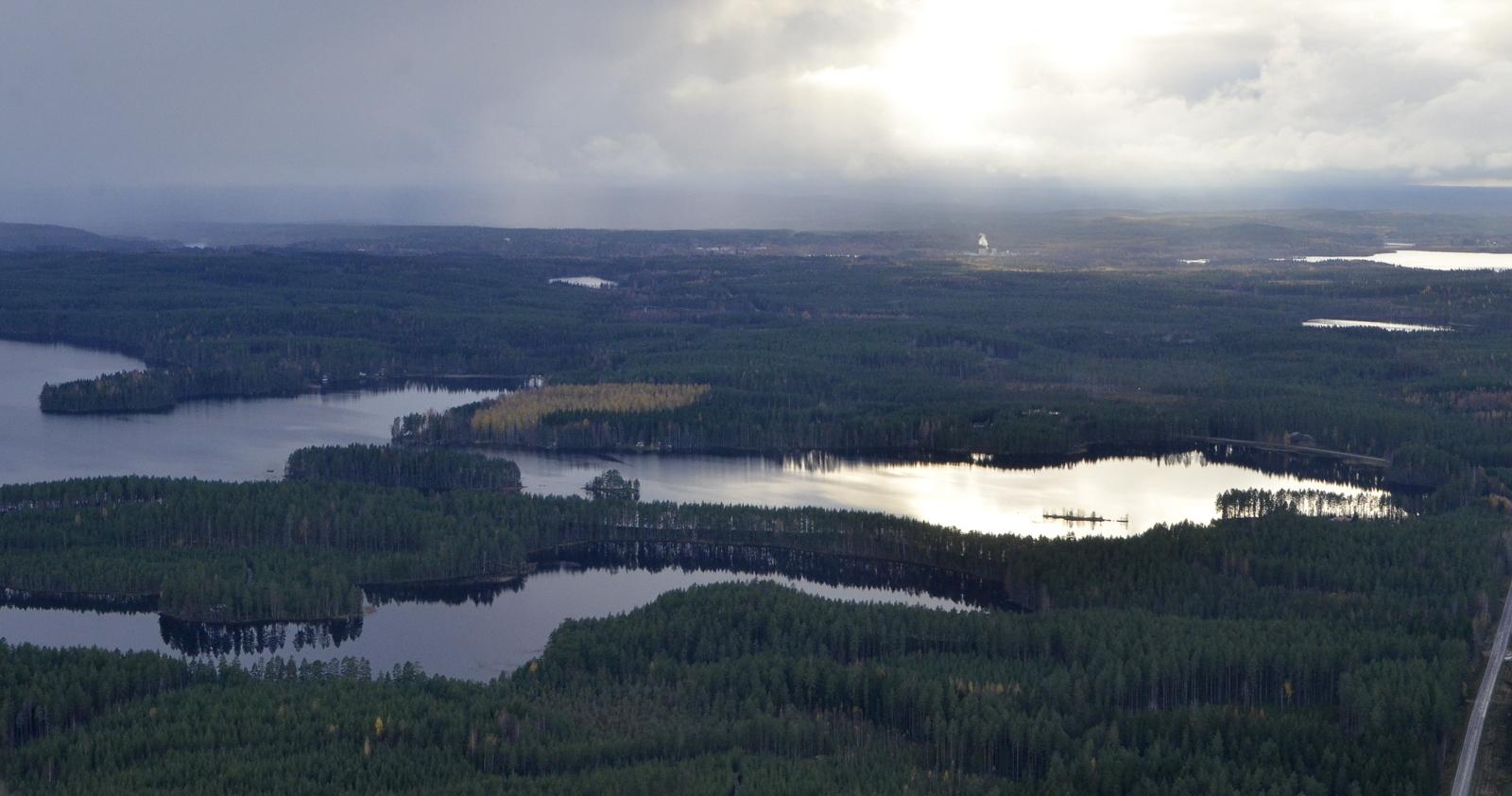 Suuntaan Jurvojärvien yli Suolahteen.